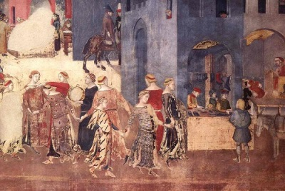 Ambrogio_Lorenzetti_-_Effects_of_Good_Government_on_the_City_Life_(detail)_-_WGA13493