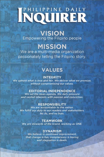Inquirer MissionVision