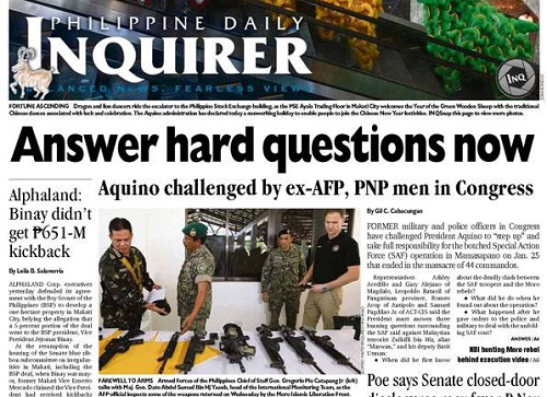 Philippine Daily Inquirer Newspaper