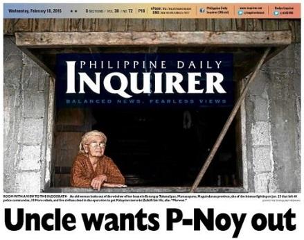 Aquino out
