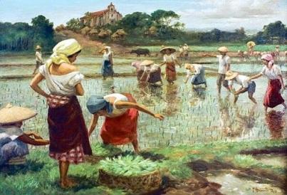 rice planting by Fernando Amorsolo