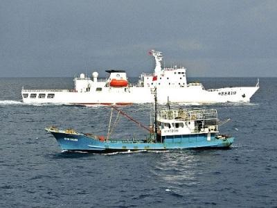 Chinese coast guard Filipino fishing boat