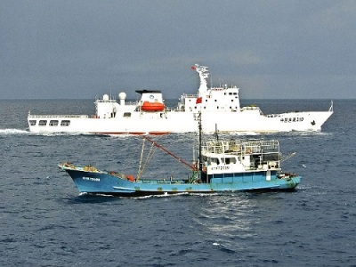 Chinese coast guard Filipino fishing boat