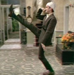 fawlty towers john cleese goose stepping
