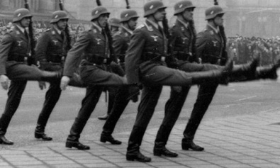 goose stepping nazis