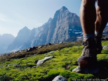 Feet of Hiker