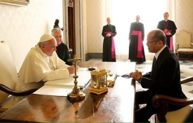 Pope Francis and President Aquino