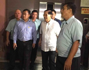 Enrile posting bail Inquirer