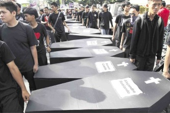 media killings protest inquirer